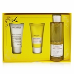 Decleor Infinite Soothing Rose Damascena Skincare Set: Aroma Cleanse Cleansing Mousse+ Day Cream & Mask+ Bath & Shower Gel  3pcs