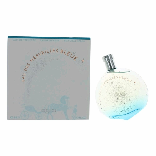 Eau De Merveilles Bleue by Hermes, 3.3 oz Eau De Toilette Spray for Women