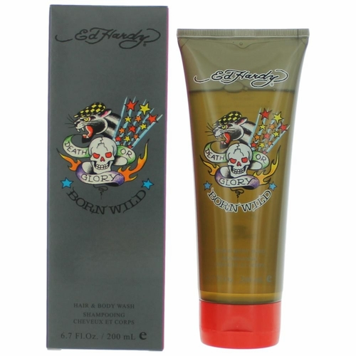 Ed Hardy Born Wild by Christian Audigier, 6.7 oz Hair & Body Wash for Men