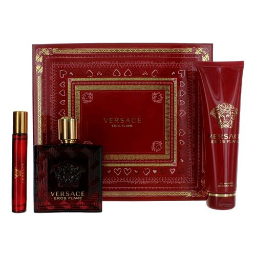 Eros Flame by Versace, 3 Piece Gift Set for Men