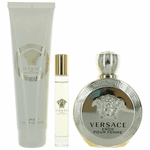 Eros Pour Femme by Versace, 3 Piece Gift Set for Women with Rollerball