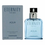 Eternity Aqua by Calvin Klein, 3.4 oz Eau De Toilette Spray for Men