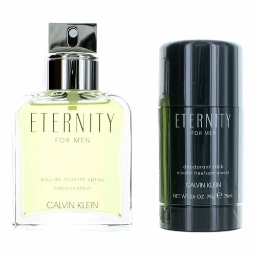 Eternity by Calvin Klein, 2 Piece Gift Set for Men with Deodorant