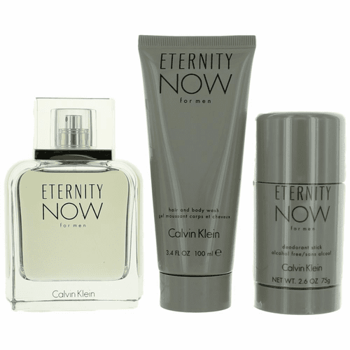 Eternity Now by Calvin Klein, 3 Piece Gift Set for Men with 3.4 oz