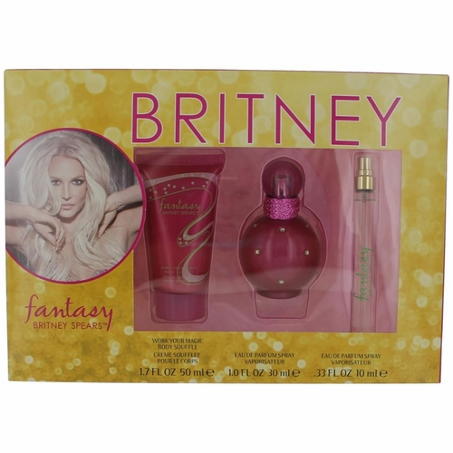 Fantasy by Britney Spears, 3 Piece Gift Set for Women with 1 oz