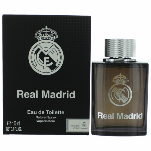 FC Real Madrid Black by Air-Val International, 3.4 oz Eau De Toilette Spray for Men