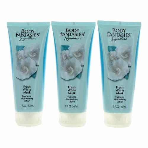 Fresh White Musk by Body Fantasies, 3 Pack of 7 oz Body Lotion for Women