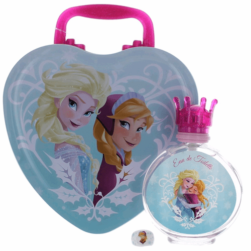 Frozen by Disney, 3.4 oz Eau De Toilette Spray for Girls with Metal Lunch Box