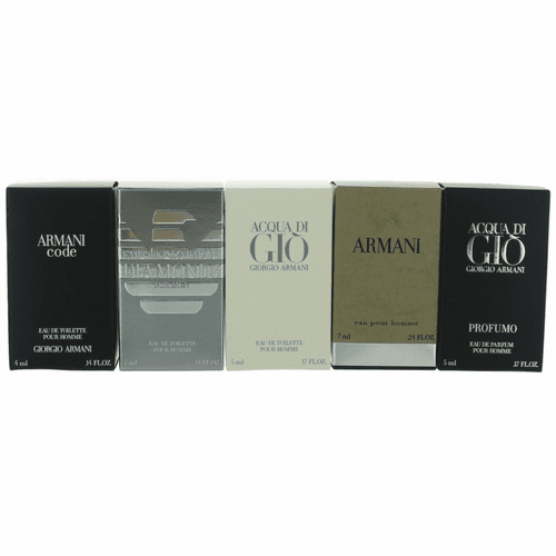 Giorgio Armani by Giorgio Armani, 5 Piece Mini Variety Set for Men