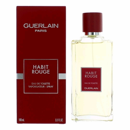 Habit Rouge by Guerlain, 3.3 oz Eau De Toilette Spray for Men