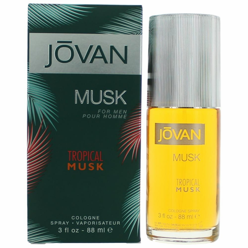 Jovan Tropical Musk by Coty, 3 oz Cologne Spray for Men
