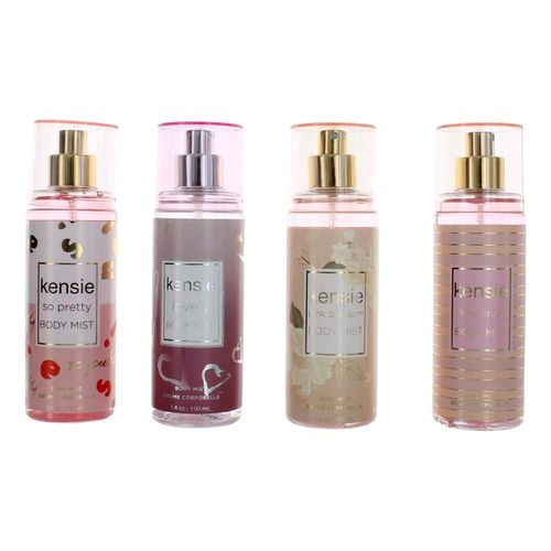 Kensie by Kensie, 4 Piece Body Mist Variety Gift Set for Women