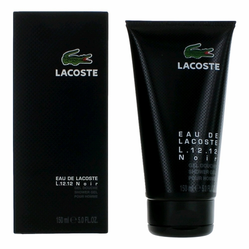 Lacoste L.12.12 Black Noir by Lacoste, 5 oz Shower Gel for Men