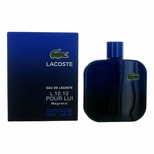 Lacoste L.12.12 Magnetic by Lacoste, 5.9 oz Eau De Toilette Spray for Men.