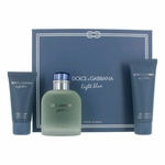 Light Blue by Dolce & Gabbana, 3 Piece Gift Set for Men