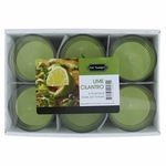 Lime Cilantro 1.5 oz Glass Jar Votives Candle, 6 Pack 9 oz Total - Lime Cilantro