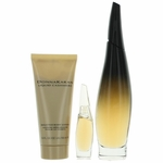 Liquid Cashmere Black by Donna Karan, 3 Piece Gift Set for Women with Mini