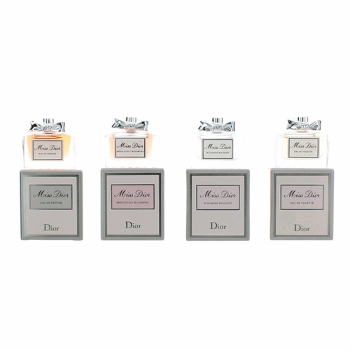 Miss Dior by Christian Dior, 4 Piece Variety Gift Set for Women