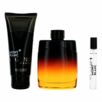 Mont Blanc Legend Night by Mont Blanc, 3 Piece Gift Set for Men