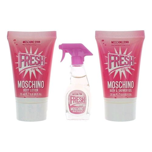 Moschino Pink Fresh Couture by Moschino, 3 Piece Mini Gift Set for Women