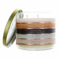 Nautica 14.5 oz Soy Wax Blend 3 Wick Candle - Gilded Sun & White Tea Aloe