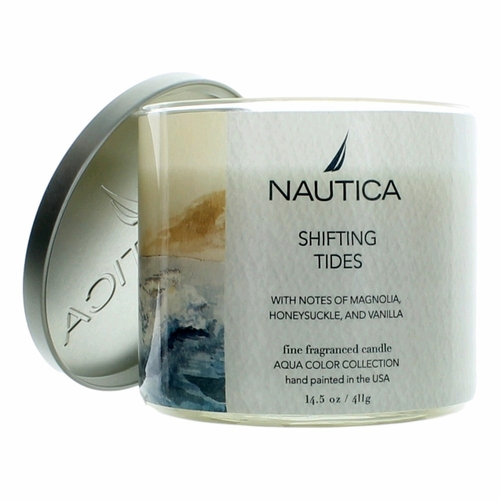 Nautica 14.5 oz Soy Wax Blend 3 Wick Candle - Shifting Tides