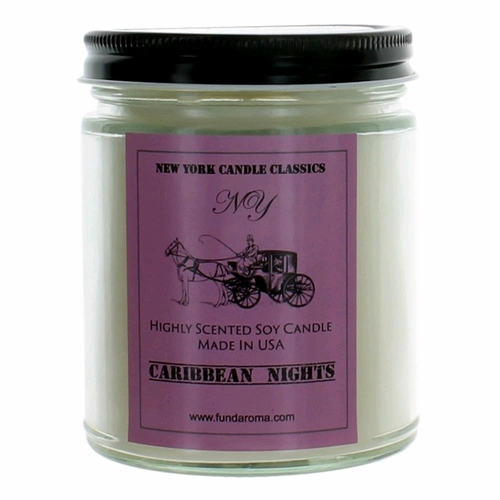 New York Candle 9 oz Highly Scented Soy Candle - Caribbean Nights