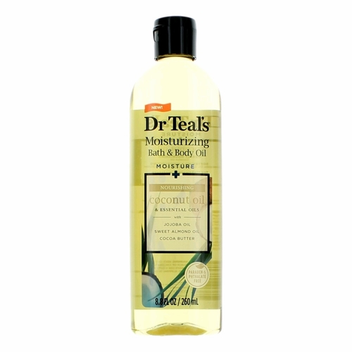 Nourishing Coconut Oil & Essential Oils by Dr. Teal's, 8.8 oz Moisturizing Bath & Body Oil