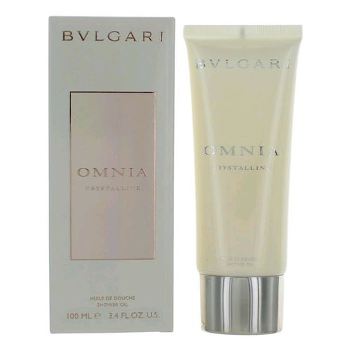 Omnia Crystalline by Bvlgari, 3.4 oz Shower Oil for Women