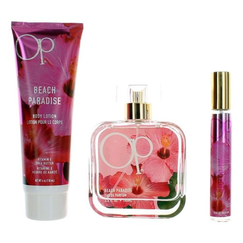 OP Beach Paradise by Ocean Pacific, 3 Piece Gift Set for Women