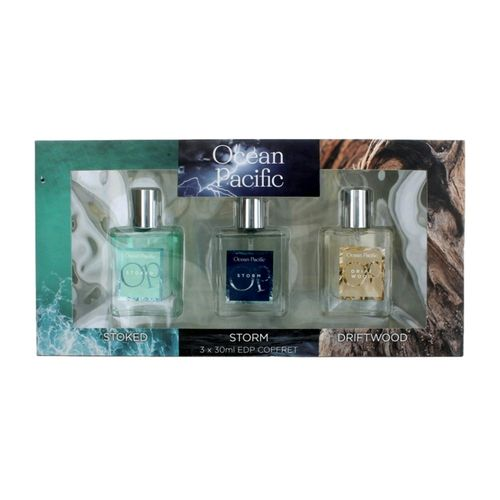 OP by Ocean Pacific, 3 Piece Fragrance Collection for Men