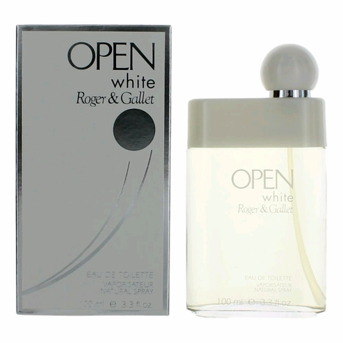 Open White by Roger & Gallet, 3.3 oz Eau De Toilette Spray for Men