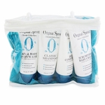 Original Sprout Classic Collection Deluxe Travel Kit: Shampoo 90ml + Conditioner 90ml + Baby Wash 90ml + Baby Cream 90ml + Washcloth 1pc  4pcs+1Washcloth