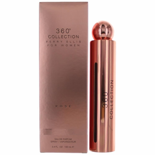 Perry Ellis 360 Collection Rose by Perry Ellis, 3.4 oz Eau De Parfum Spray for Women
