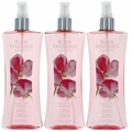 Pink Sweet Pea Fantasy by Body Fantasies, 3 Pack 8 oz Fragrance Body Spray for Women