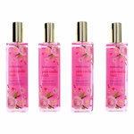 Pink Vanilla Wish by Bodycology, 4 Pack 8 oz Fragrance Mist for Women