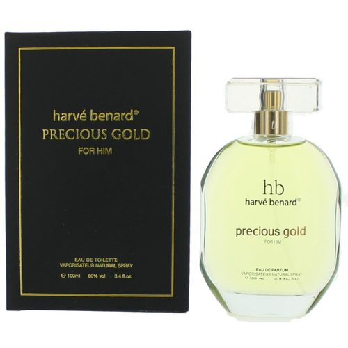 Precious Gold by Harve Bernard, 3.4 oz Eau De Parfum Spray for Men