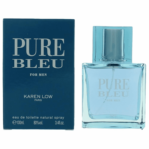 Pure Bleu by Karen Low, 3.4 oz Eau De Toilette Spray for Men