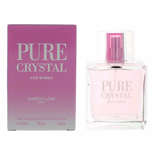 Pure Crystal by Karen Low, 3.4 oz Eau De Parfum Spray for Women