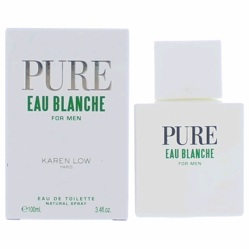 Pure Eau Blanche by Karen Low, 3.4 oz Eau De Toilette Spray for Men