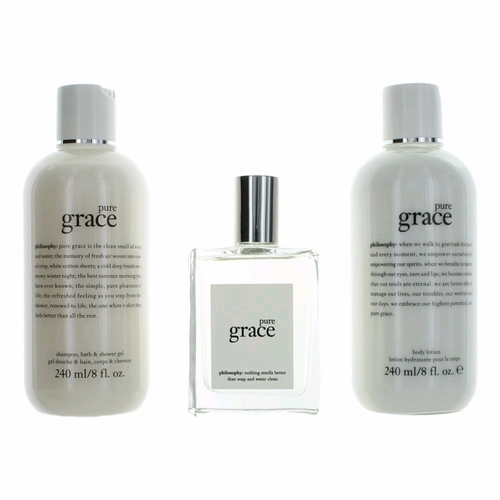 Pure Grace by Philosophy, 3 Piece Gift Set for Women