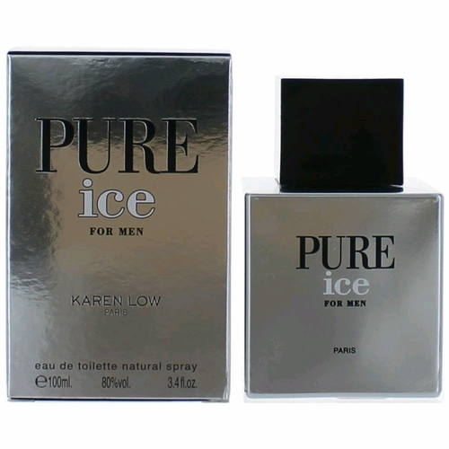 Pure Ice by Karen Low, 3.4 oz Eau De Toilette Spray for Men