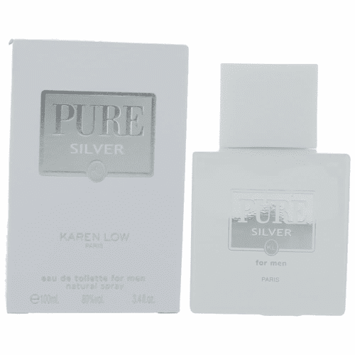 Pure Silver by Karen Low, 3.4 oz Eau De Toilette Spray for Men