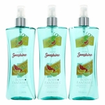 Pure Sunshine by Body Fantasies, 3 Pack 8 oz Fragrance Body Spray for Women