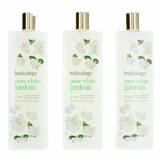 Pure White Gardenia by Bodycology, 3 Pack 16 oz 2-1 Body Wash & Bubble Bath for Women