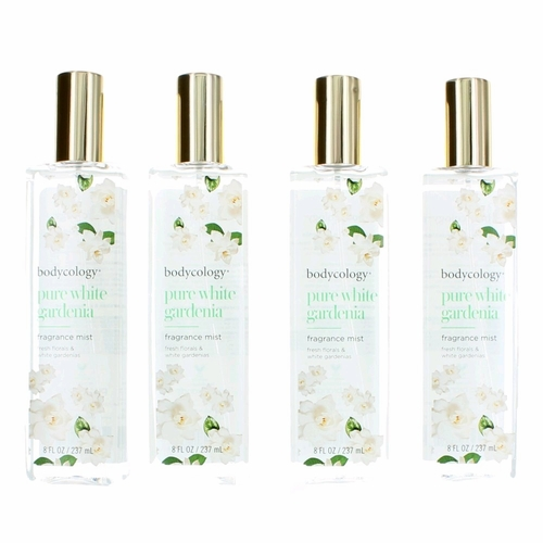 Pure White Gardenia by Bodycology, 4 Pack 8 oz Fragrance Mist for Women