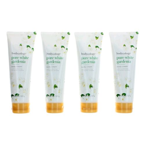 Pure White Gardenia by Bodycology, 4 Pack 8 oz Moisturizing Body Cream for Women