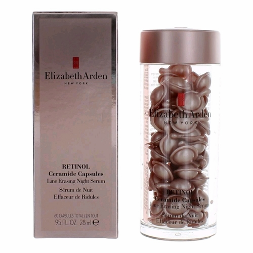 Retinol Ceramide by Elizabeth Arden, 60 Capsules Line Erasing Night Serum for Women