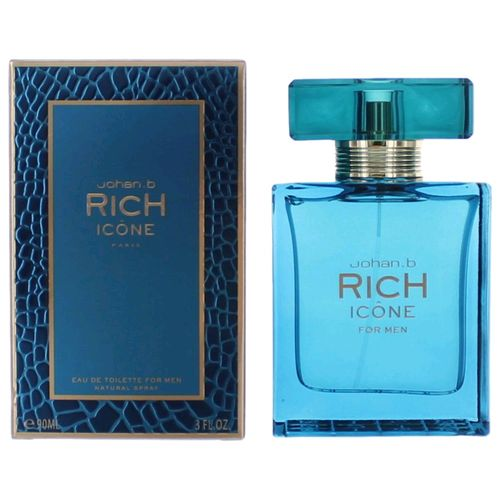 Rich Icone by Johan.b, 3 oz Eau De Toilette Spray for Men