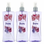 Romance & Dreams Fantasy by Body Fantasies, 3 Pack 8 oz Fragrance Body Spray for Women